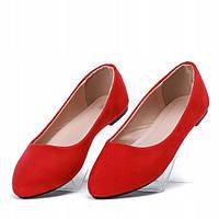 Женские балетки красного цвета, фото 1