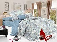 Комплект постельного белья сатин полуторный TAG S308