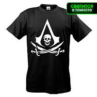 Футболка с лого Assassin's Creed 4 (glow)