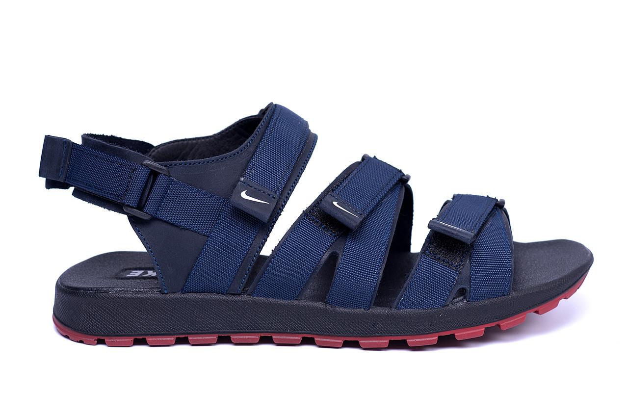 c3294a8d5c2b Мужские кожаные сандалии Nike Summer life blue (реплика)
