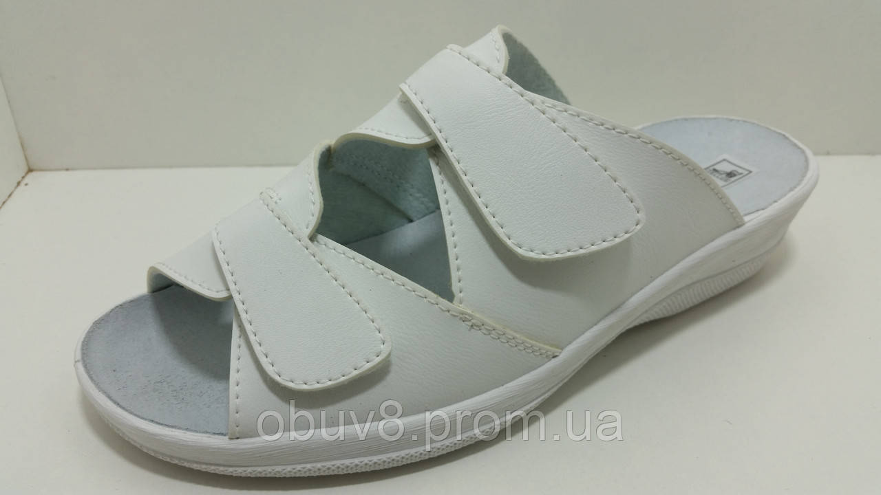 705f1065aef2 Сабо белые женские обувь летняя рабочая оптом