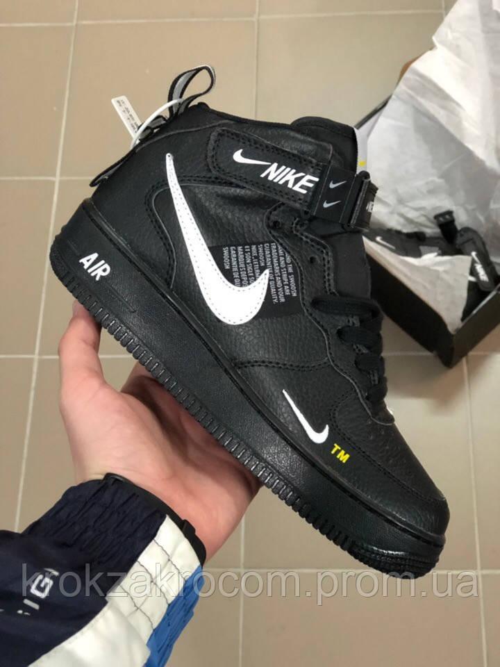 ea131a1c Кроссовки Nike Air Force 1 Hight Black replica AAA - Интернет-магазин