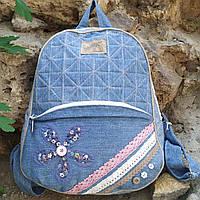 Городской женский джинсовый рюкзак Ручная работа