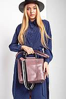 Квадратная розовая сумка с металлическими ручками и внешним карманом
