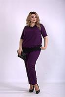 Женский летний костюм, сиреневый с 42 по 74 размер, фото 1