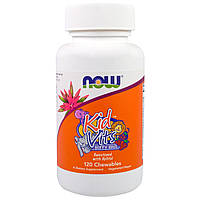 Комплекс дитячих вітамінів - NOW FoodsKid Vits - Berry Blast 120 chewables