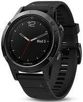 Смарт часы Garmin Fenix 5 sapphire Black with Black Band