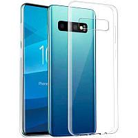 Чехол силиконовый Samsung S10 Galaxy G973  прозрачный ультратонкий Ultra Thin Case