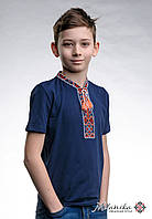 Дитяча футболка із вишивкою на короткий рукав «Козацька (червона вишивка)», фото 1