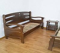 """Односпальный диван кровать из массива натурального дерева """"Луи Дюпон Люкс"""" от производителя"""