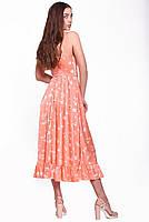 Летний женский сарафан длиной миди с оборкой, фото 2