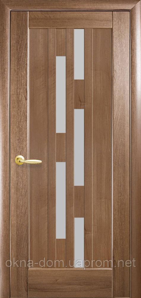 Двери межкомнатные Новый Стиль Лаура (Стекло сатин) ПВХ DeLuxe