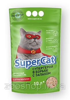 Наполнитель туалетов Super Cat для котов зеленый с ароматизатором 3 кг, фото 2