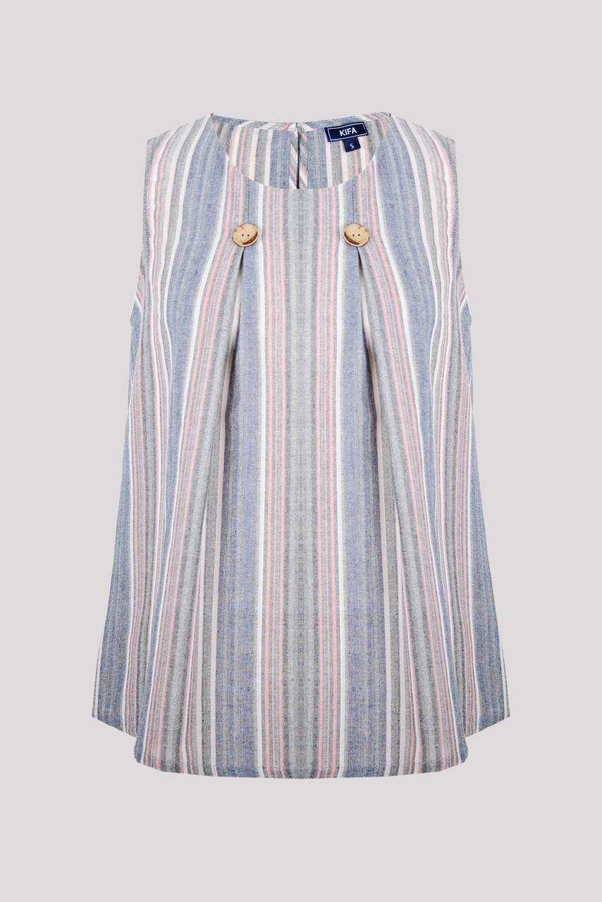 Блуза женская KIFA ТЖ-018/26 сине-розовая