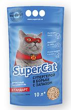 Наполнитель туалетов Super Cat для котов синий с ароматизатором 3 кг