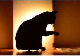 """Світлодіодний Лід нічник """"Кішка з піднятою лапкою"""" з вбудованими датчиками звуку і освітленості"""