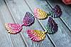 """Аплікація """"Крильця ангела екокожа великі"""", 7 х 4 см, 20 шт/уп.,кольори яскрава веселка глянець"""