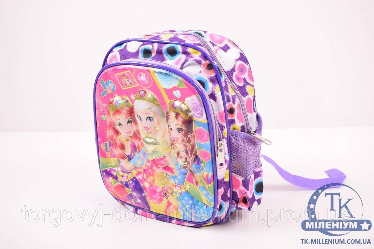 Рюкзак для девочки (цв.сиреневый) размер 23/30/10 см. 026