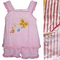 Детский костюмдля девочкис бабочкойот 6 мес до 24 мес полосатая майка с капрями