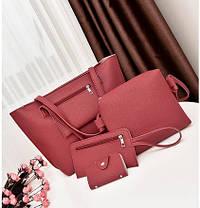 Элегантный  набор женских сумок 4в1, фото 2
