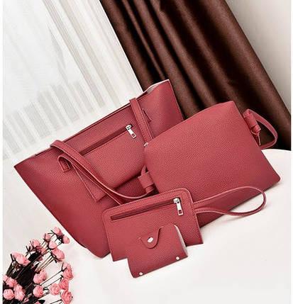 Елегантний набір жіночих сумок 4в1, фото 2
