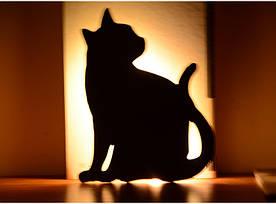 """Світлодіодний Лід нічник """"Кішка"""" з вбудованими датчиками звуку і освітленості"""