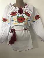Женская вышиванка Маки с колоском , хорошее качество