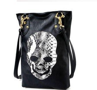 Модная женская сумка с принтом черепа