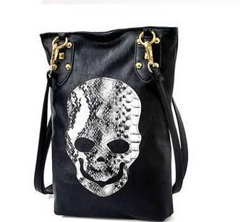Модная женская сумка с принтом черепа , фото 2