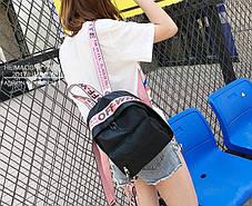 Оригінальний жіночий рюкзак з барвистими поясами, фото 3