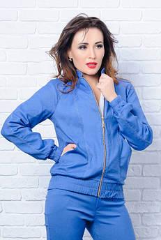 Джинсова куртка *Бомбер* , блакитна