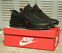 Мужские кроссовки Nike Air Max 97 Reflective Logos Black , Реплика, фото 1