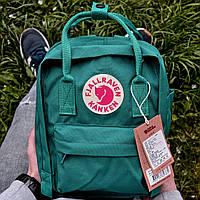"""Рюкзак Fjallraven Kanken mini """"Ocean Green"""". Стильный городской рюкзак., фото 1"""