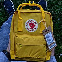 """Рюкзак  Fjallraven Kanken  mini """"Warm Yellow"""". Стильный городской рюкзак. Реплика. ТОП КАЧЕСТВО!!!, фото 1"""