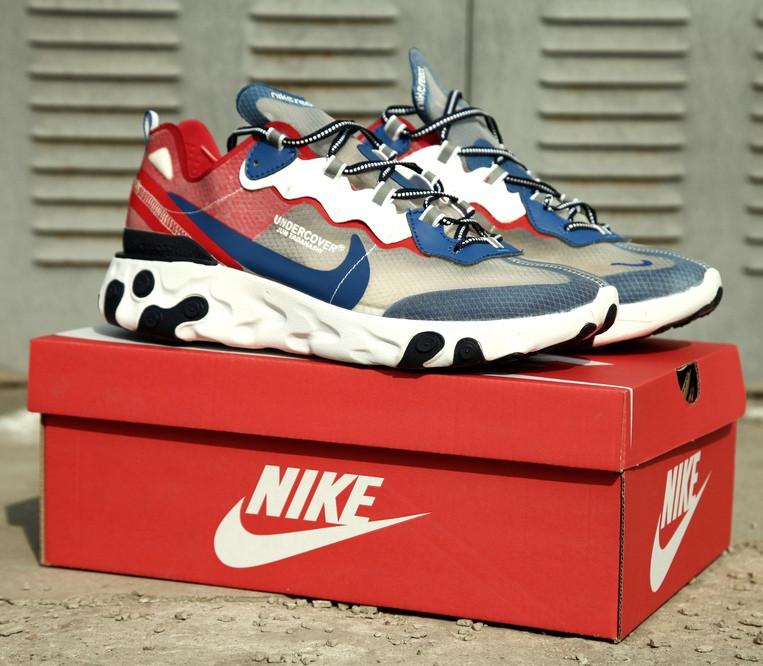 Мужские кроссовки Nike React Element 55 Red Royal , Реплика