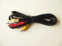 Аудио кабель RCA:3RCA-3RCA (3 тюльпана) 3m