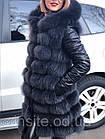 Утепленная Куртка-Трансформер с Мехом Песца  0147ШТ, фото 8