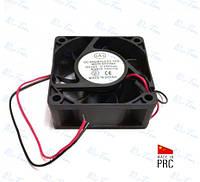Вытяжной осевой вентилятор (квадратный) 60*60*25мм, 12В  0,2А (Brushless, Китай)