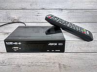 ТВ-Тюнер Aspor DVB T2 (603) (HDMI, RCA, USB, Metal, контроллер WiFi) черный