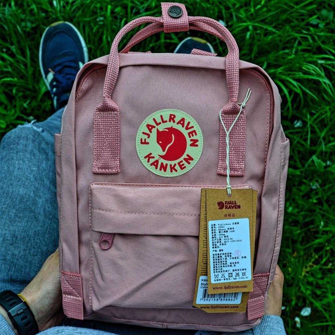 """Рюкзак Fjallraven Kanken mini """"Pink"""". Стильный городской рюкзак."""
