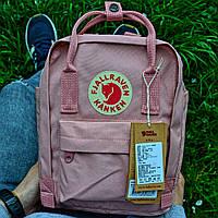 """Рюкзак Fjallraven Kanken mini """"Pink"""". Стильный городской рюкзак., фото 1"""