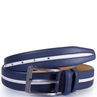 Ремень Y.S.K Ремень мужской кожаный Y.S.K. (УАЙ ЭС КЕЙ) SHI4033-navy