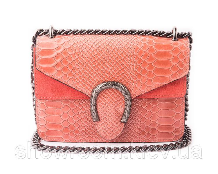 Сумка кроссбоди Vera Pelle (196380) кожаная розовая