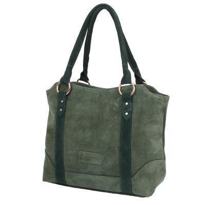 Сумка повседневная (шоппер) Laskara Женская замшевая сумка LASKARA (ЛАСКАРА) LK-DD210-olive