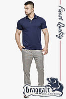 Тенниска мужская Braggart  6093Q т.синий-серый