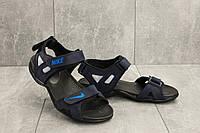 Босоножки Best Vak Л2-03 (Nike Air) (лето, мужские, натуральная кожа, синий)