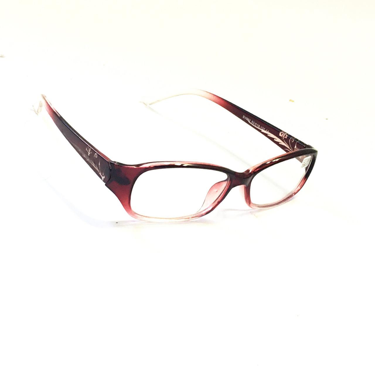 Окуляри для корекції зору з білої лінзою