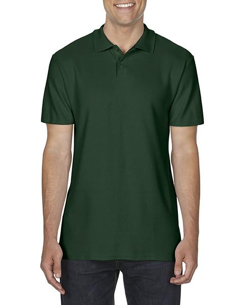 Рубашка поло, т.зеленый, GILDAN Soft Style 64800, размеры от S до 3XL, плотность 177 г/м2