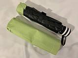 Механический зонт с выворотным механизмом 8 спиц цвет салатовый, фото 4