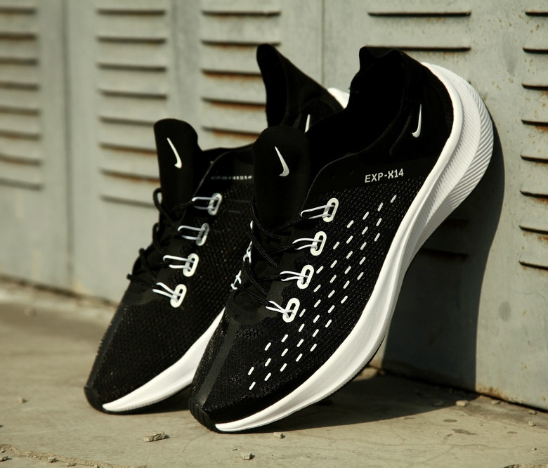 "Мужские кроссовки Nike Exp-X 14 Just do it pack 'Black/White"", Реплика"